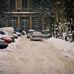 Schneechaos in der Korsrer Strasse
