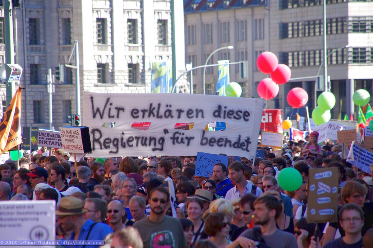 Freiheit statt Angst – Demonstration in Berlin am 07.09.2013